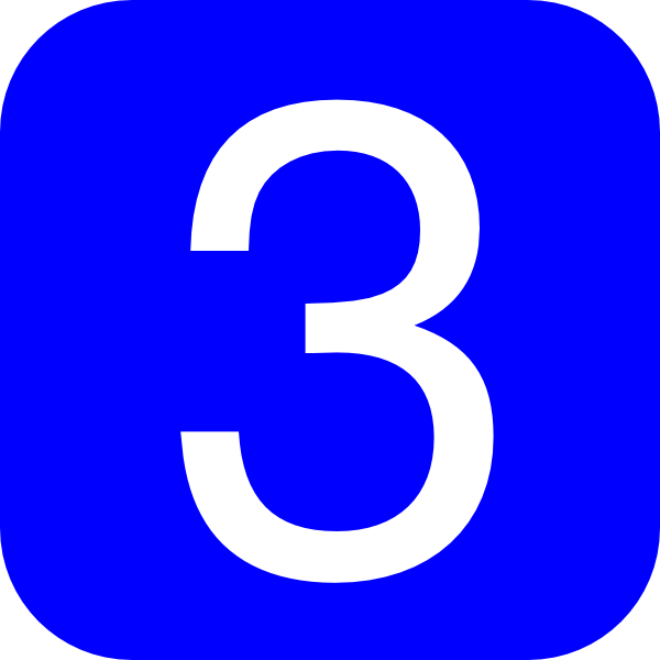 Blue  Rounded  Square With Number 3 Clip Art At Clker Com