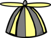 Yellow Gray Propellor Hat Clip Art