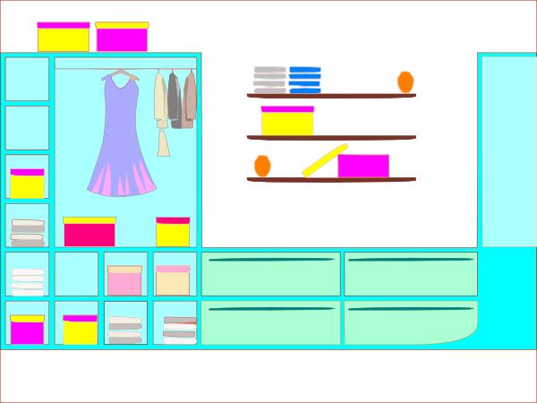 Colorfull wardrobe clip art at clker vector