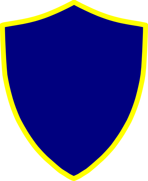 Blue And Yellow Shield Clip Art At Clker Vector Clip Art