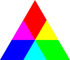 Triangle Rgb Mix Clip Art