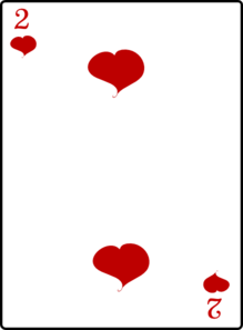 2 Of Hearts Clip Art