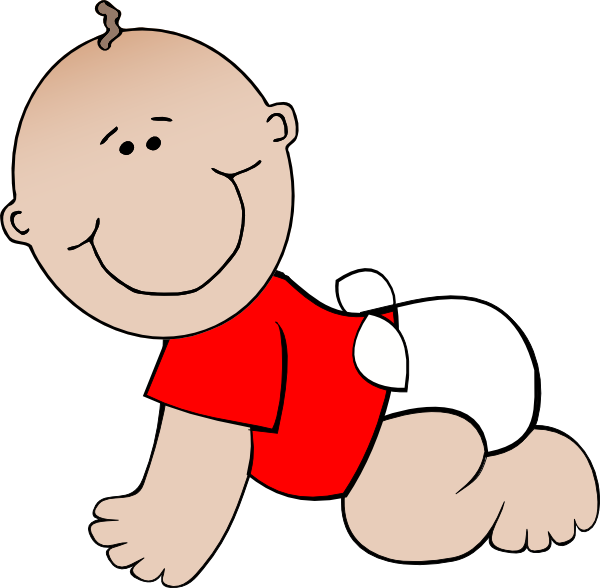Crawling Baby Red Clip Art at Clker.com - vector clip art ...