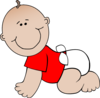 Crawling Baby Red Clip Art