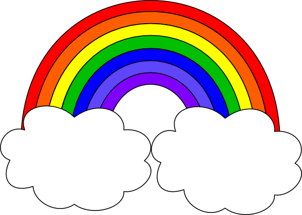 Rainbow With Clouds Cl...
