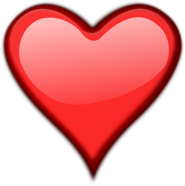 heart clip art outline. Shiny Outline Heart