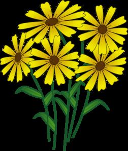 Golden Flower Clip Art