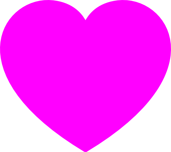 Solid Pink Heart Clip Art at Clker.com - vector clip art ...