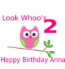 Owl 2nd Birthday Clip Art