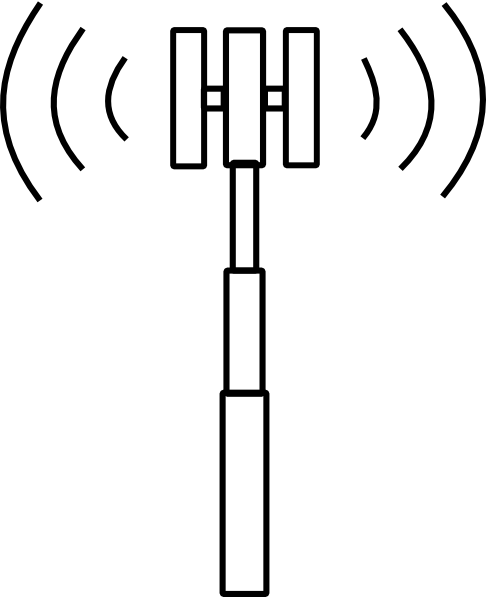 Clipart Cell Tower on cell phone schematic diagram