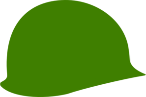 Green Soldier Helmet Clip Art