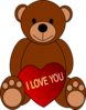 Love Teddy Bear Clip Art