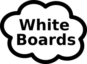 White Boards Sign Clip Art