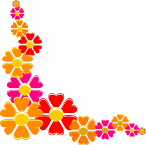 Orange-red Flower Clip Art