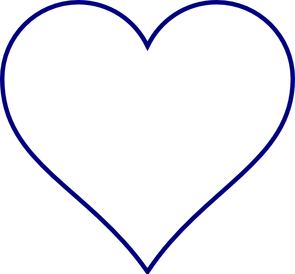 Blue Heart Clip Art at Clker.com - 25.9KB
