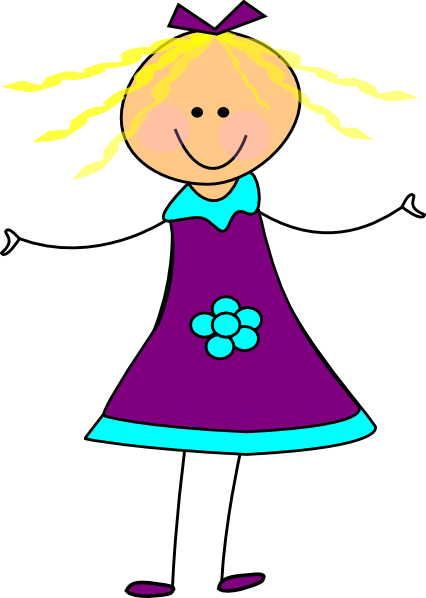 happy girl purple clip art at clkercom vector clip art