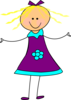 Happy Girl Purple Clip Art