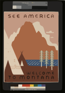 See America Welcome To Montana / Rothstein. Clip Art