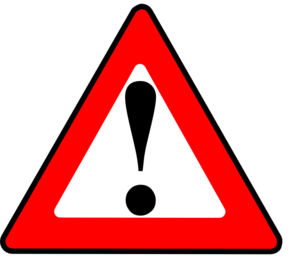 Apr1 Red Black Warning Clip Art