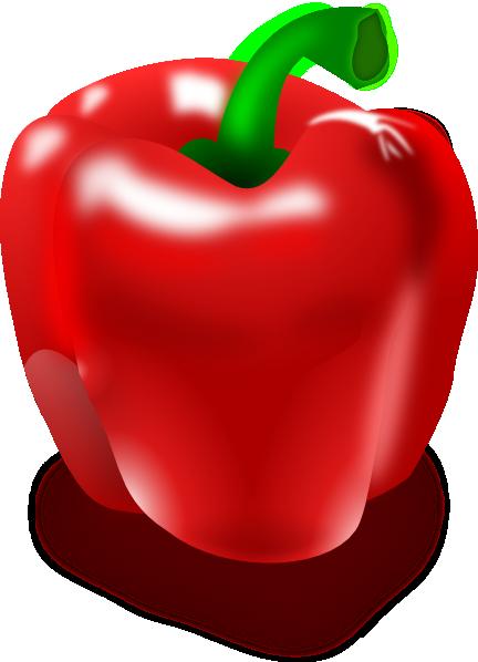 Red Pepper Clip Art at Clker.com - vector clip art online, royalty ...
