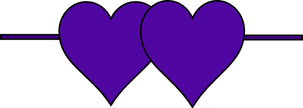 Clip Art Line Of Hearts : Double hearts line clip art at clker vector