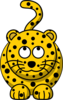 Leopard Looking Up Clip Art