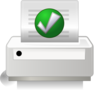 Printer Green Tick Clip Art