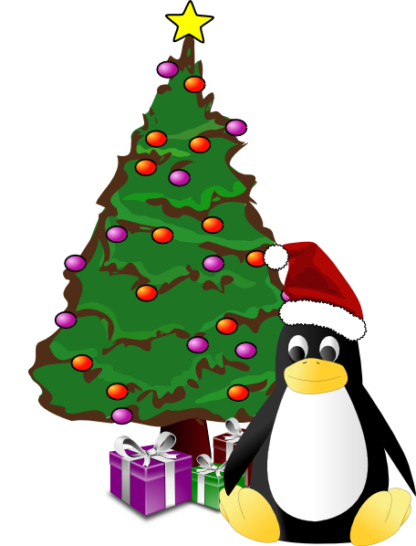 Christmas Tree And Penguin Clip Art at Clker.com - vector ...