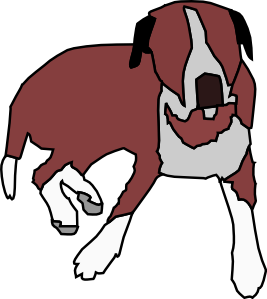 Cartoon Dog Sitting Clip Art