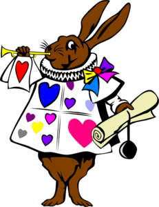 Heart Bunny With Trumpet Clip Art