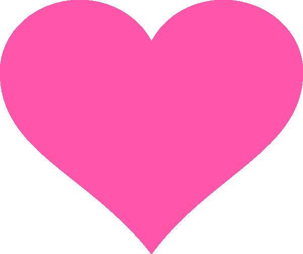 Download Hot Pink Heart Clip Art at Clker.com - vector clip art ...