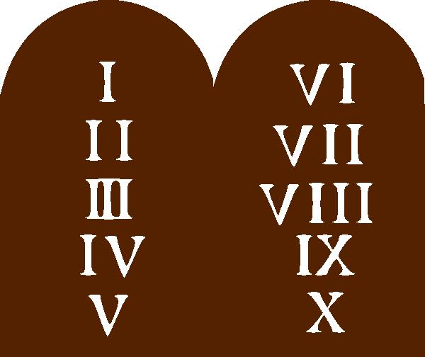 Ten Commandments Clip Art at Clker.com - vector clip art ...