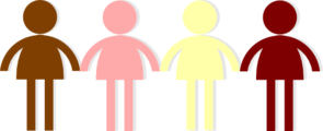 Colours People Hands Clip Art