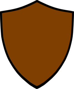 Shield-brown Clip Art