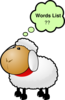 Sheep Question Bubble Clip Art