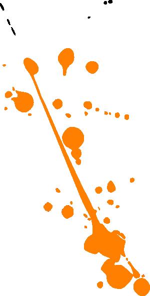 Paint splatter orange. Splat clip art at