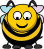 Bee Looking Down Clip Art