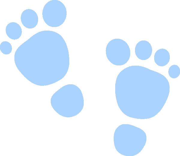 blue baby footprints clip art MEMEs