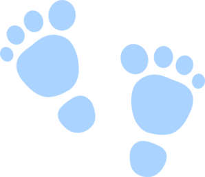 Blue Foot Prints Clip Art