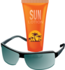 Sunglasses With Sun Tan Lotion Clip Art