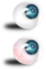 Eyeball Blue And Bloodshot Clip Art