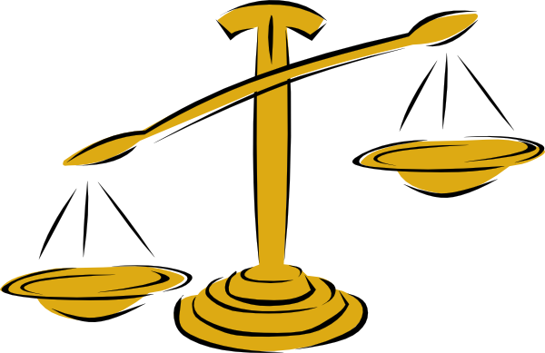 Unbalanced Scale Left clip artUnbalanced Scale Of Justice Vector