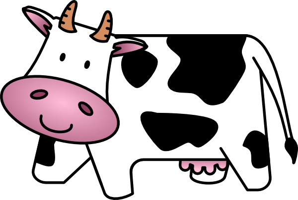 cow clipart simple - photo #28