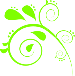 Lime Green Paisley Clip Art