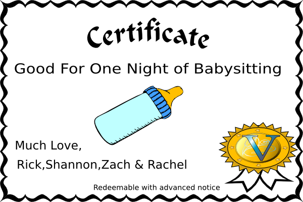 Babysitting Coupon Template | Babysitting Coupon Clip Art At Clker Com Vector Clip Art Online