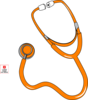 Orange Stethoscope By Pep Clip Art