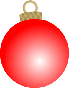 Red Christmas Ball Ornament Clip Art