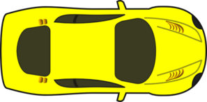 Yellow Car - Top View Clip Art