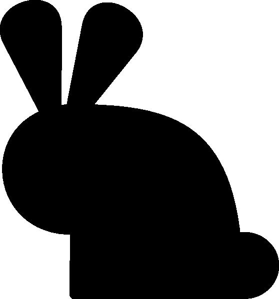 Black Rabbit Clip Art At Clker Com Vector Clip Art