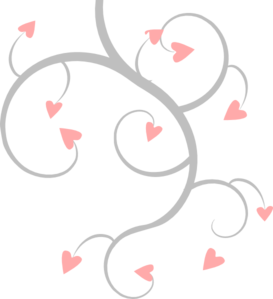 pink and grey heart scroll clip art at clker com vector clip art